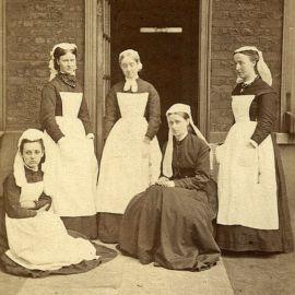 Enfermeiras do Great Ormond Street Hospital , 1878.