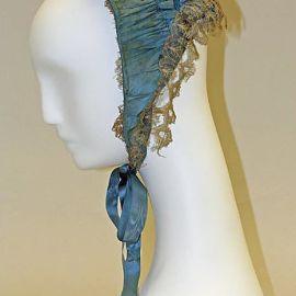 Bonnet da década de 1860.