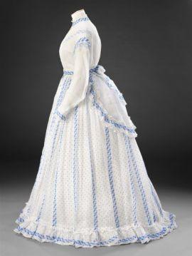Vestido de 1860 da coleção de John Bright.