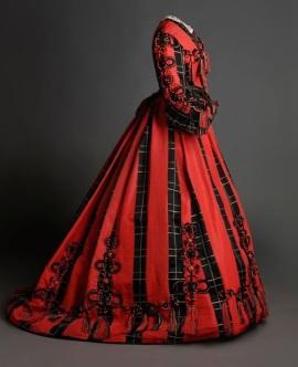 Vestido de dia de 1860.